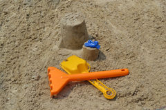 Play оn the sand Royalty Free Stock Images