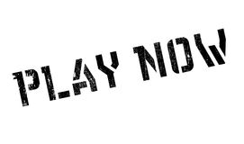 Play Now rubber stamp Stock Images
