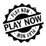 Play Now rubber stamp Stock Photos