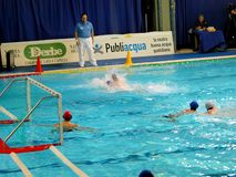 Play off water polo Italian League Stock Photos