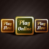 Play online casino style game button vector design Stock Image