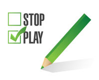 Play over stop selection illustration design Stock Image