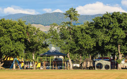 Play Park. Wonderful play park under some trees Royalty Free Stock Photos