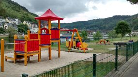 Play Park. Childrens Play Park in Cochem Germany Royalty Free Stock Image