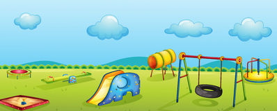 Play park. Illustration of a play park for children Royalty Free Stock Photography