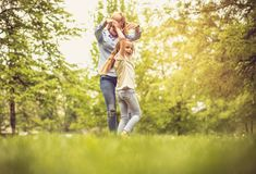 Play in park. royalty free stock photography