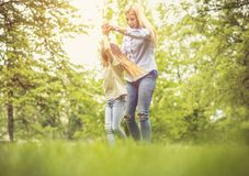 Play in park. royalty free stock image