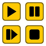 Play, pause, stop, forward buttons set. Royalty Free Stock Photo