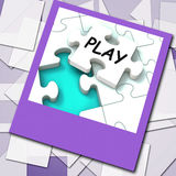 Play Photo Shows Recreation And Games On Internet Royalty Free Stock Photos