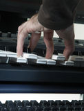 Play on the piano. White and black Stock Images