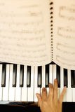 Play the piano Royalty Free Stock Photography