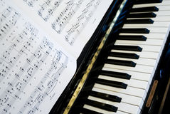Play the piano royalty free stock photo