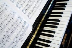 Play the piano Royalty Free Stock Photo
