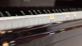 Play the piano stock video footage