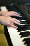 Play on piano Royalty Free Stock Image