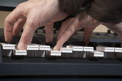 Play on the piano Royalty Free Stock Images