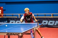 Play ping pong stock images