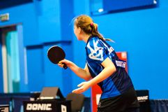 Play ping pong Stock Photo