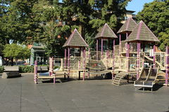 Play place for children. This play place is in the Easther Short Park in vancouver washington. The first park established in Pecefic North West in 1853 royalty free stock photo