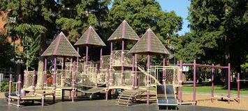 Play place for children. This play place is in the Easther Short Park in vancouver washington. The first park established in Pecefic North West in 1853 stock photos