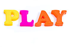 Play with plastic letter Royalty Free Stock Image