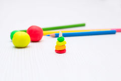 Play with plasticine.creativity, development at home Royalty Free Stock Photo