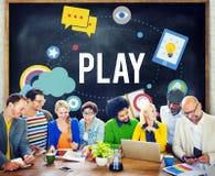 Play Playful Enjoyment Imagination Create Concept Stock Image