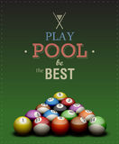 Play Pool poster. Cool billiard poster. Play Pool be the Best. EPS10 vector Stock Photography
