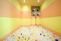Play room with balls in cafe Anderson. MOSCOW - AUGUST 1: Play room with balls in cafe Anderson near Sokol metro station, on August 1, 2012 in Moscow, Russia Stock Photos