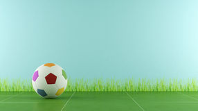 Play room with colorful soccer ball Stock Images