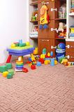 Play room. With many toys Royalty Free Stock Images