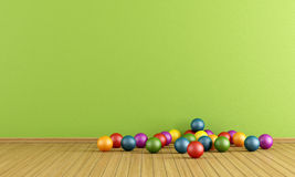 Play room with  plastic balls Stock Photo