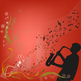 Play a saxophone Royalty Free Stock Photo