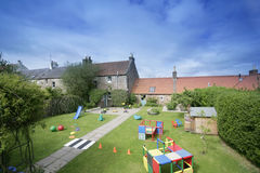 Play school. Garden play school stock photo