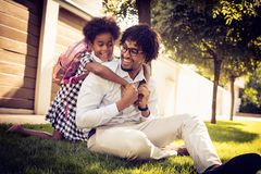 Play after school in the park royalty free stock photos