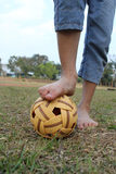 Play Sepak Takraw. Royalty Free Stock Photo