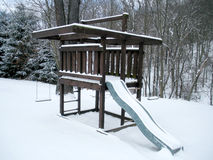 Play Set in the Snow Royalty Free Stock Images