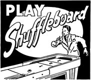 Play Shuffleboard Stock Photography