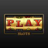 Play slot machine casino banner. Design element Stock Images