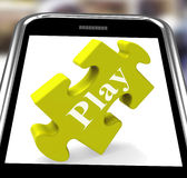Play Smartphone Means Fun And Games On Web Royalty Free Stock Image