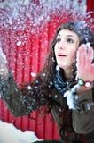 play snow Arkivfoton