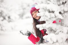 Play snowballs Royalty Free Stock Images