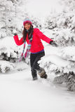 Play snowballs Stock Images