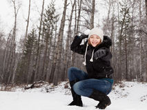 Play snowballs Royalty Free Stock Image