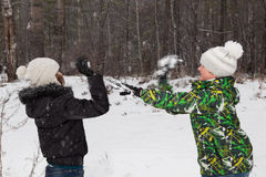 Play snowballs Royalty Free Stock Photography