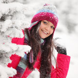 Play snowballs Stock Photo