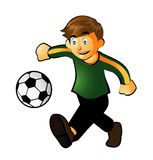 Play Soccer. A cartoon of a boy who palyed soccer Royalty Free Stock Photo