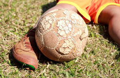 Play soccer. Royalty Free Stock Image
