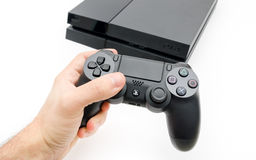 Play Station 4 with Dual Shock controller Stock Images