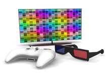 Play in stereo glasses Royalty Free Stock Image